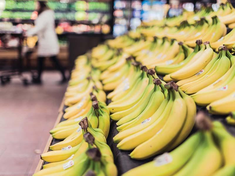 Bananas at supermarket