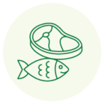 Meat and fish icon